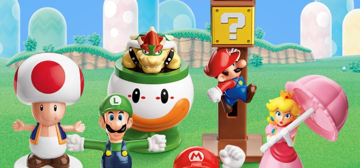 McDonald's tiene Juguetes de Super Mario en la Cajita Feliz.