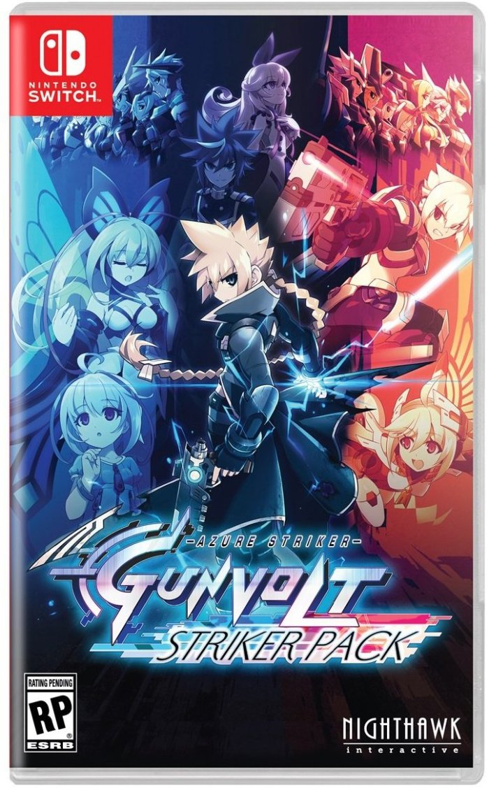 AZURESTRIKER_GUNVOLT_NINTENDO SWITCH_BOX ART