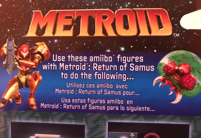METROID_SAMUS RETURNS_AMIIBO ERROR DE IMPRESION