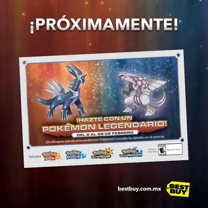 POKEMON_SUNMOON_EVENTO_PALKIA DIALGA_BESTBUY