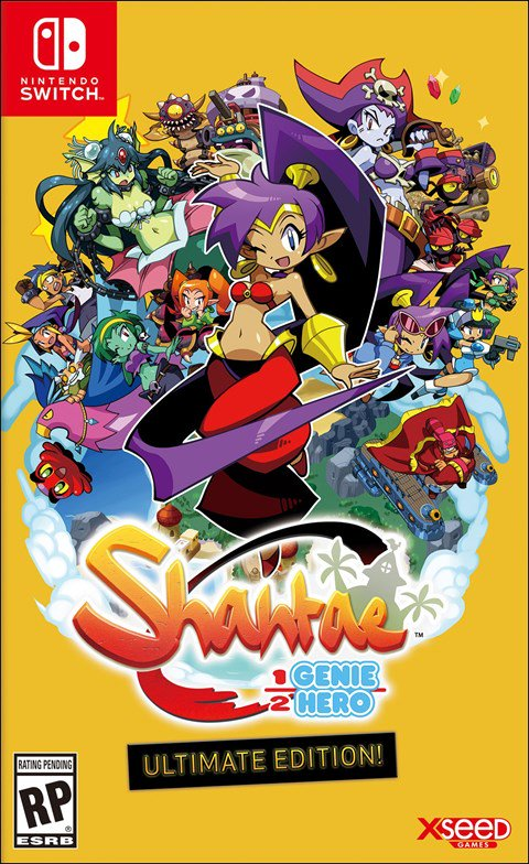 SHANTAE_HALF GENIE HERO_BOX ART AMERICANO_NINTENDO SWITCH