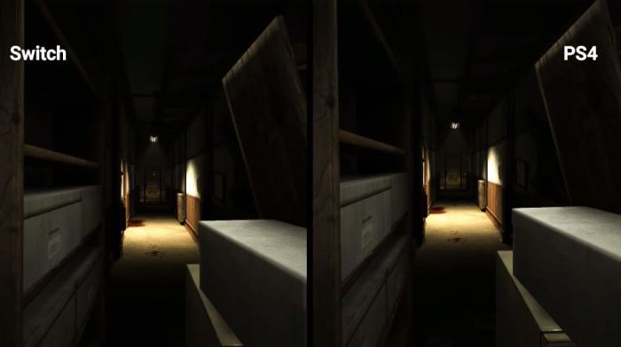 OUTLAST_SWITCH VS PS4