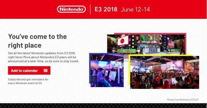 NINTENDO_SITIO OFICIAL DE E3 2018