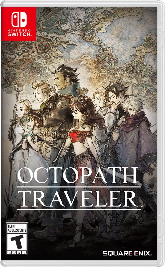 OCTOPATH TRAVELER_BOX ART_AMERICANO