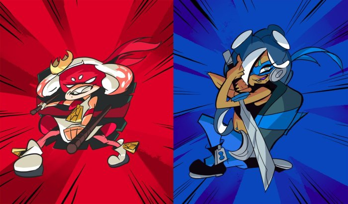 SPLATOON_2_SPLATFEST_TMNT_RAPH VS LEO_ART
