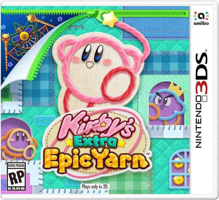 KIRBY_EXTRA EPIC YARN_PORTADA_N3DS