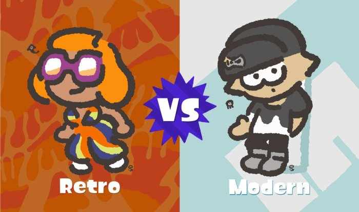 SPLATOON_2_SPLATFEST_RETRO VS MODERNO