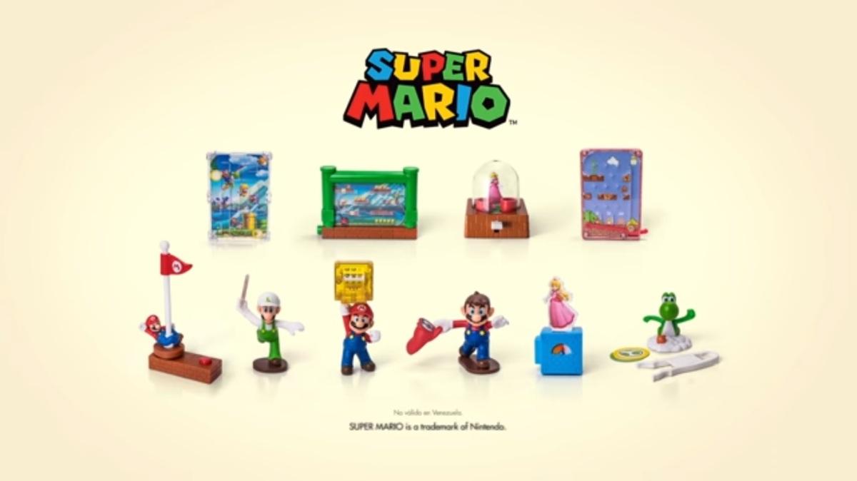 Llegan nuevos juguetes de Super Mario a la Cajita Feliz de McDonald's en México.
