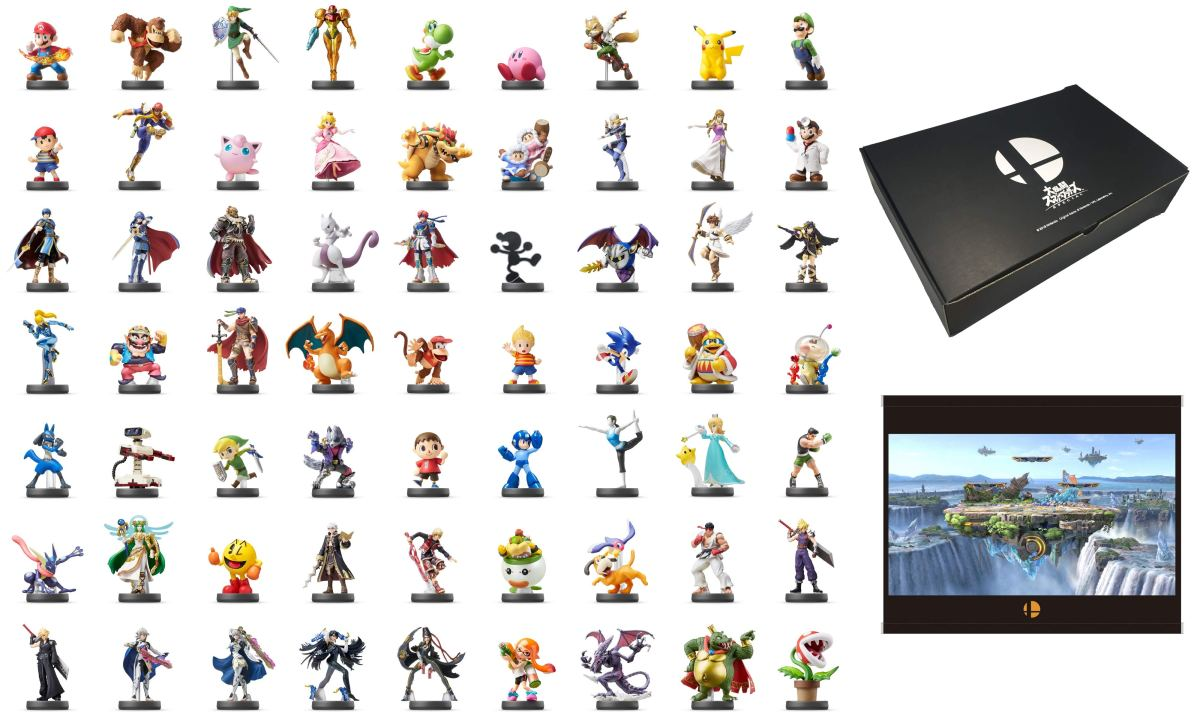 Super Smash Bros. Ultimate | Amazon Japón lista Paquete con 63 figuras amiibo.