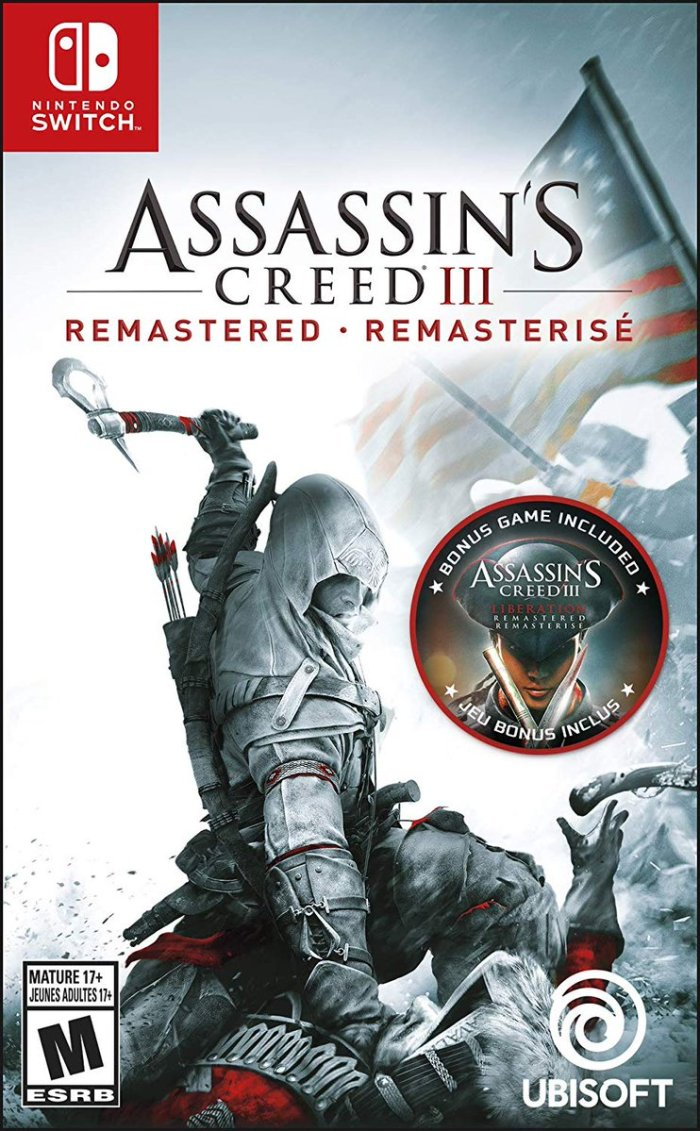Resultado de imagen de portada Assassin's Creed 3 Remastered nintendo switch