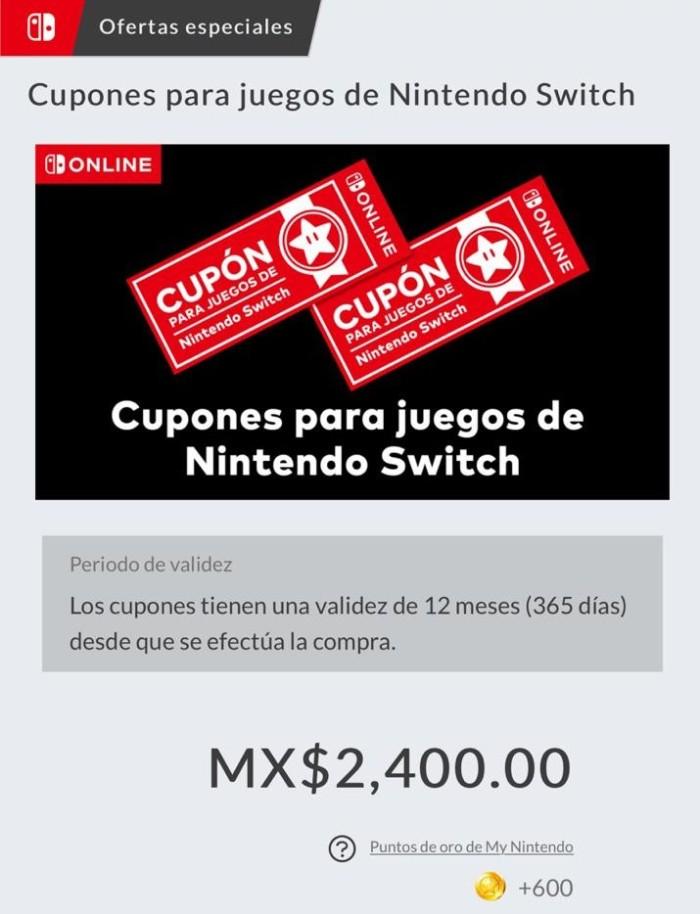 NINTENDO_SWITCH_CUPONES PARA JUEGOS_MEXICO