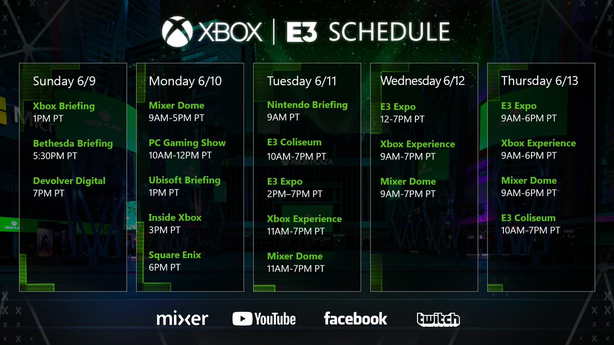 E3 Calendario.El Calendario Oficial De Xbox Para E3 2019 Hace Enfasis En